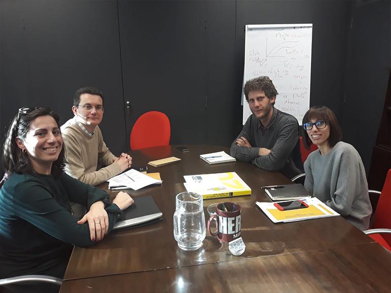 Imagen 1. Fotografía de la reunión entre el IVE y AIDIMME.